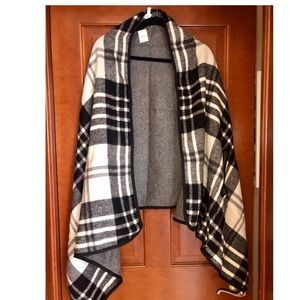 J. Crew plaid shawl